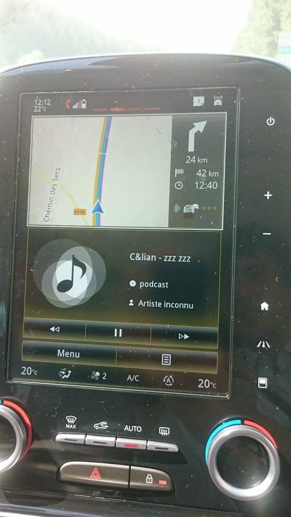 Mode autoroute désactivé en mode widget...