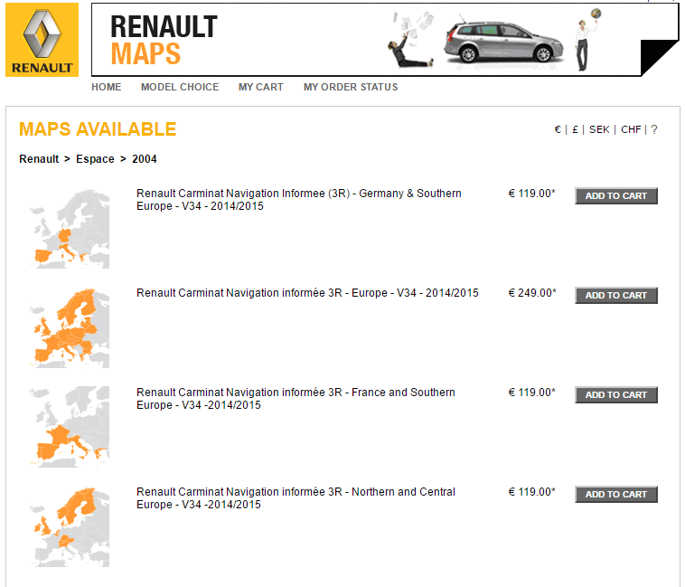renault abandonne les cd dvd cartographiques gps carminat. Black Bedroom Furniture Sets. Home Design Ideas